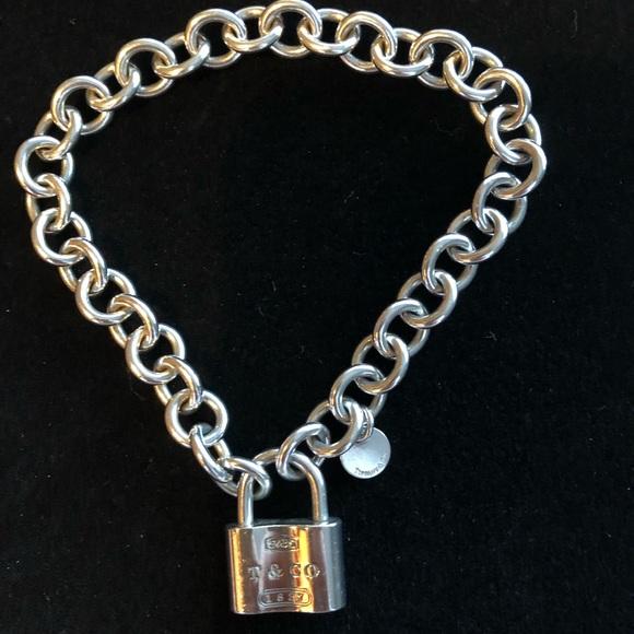 3d975fba1 Tiffany & Co. sterling 1837 silver lock bracelet. M_5abd713d5512fd9ced2ccf6d